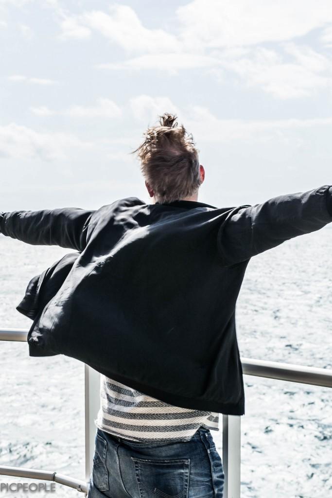 Krille fick lite Titanic-feeling.