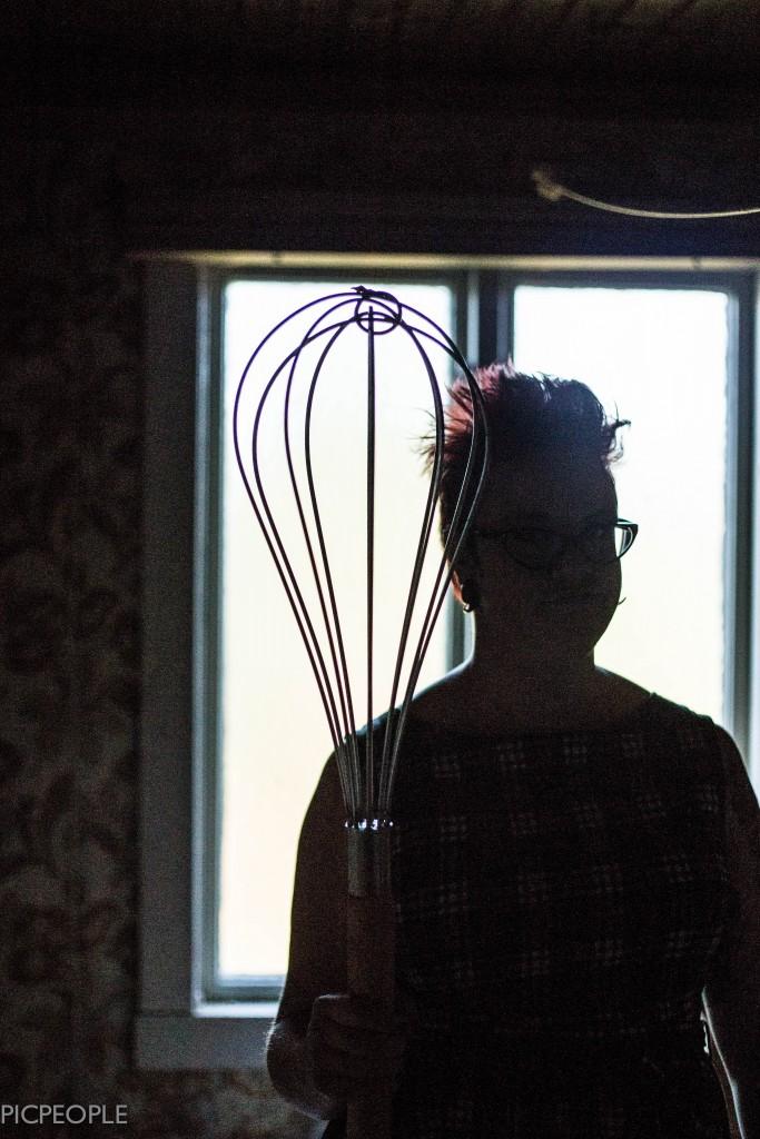 Pia och jätteballongvispen.