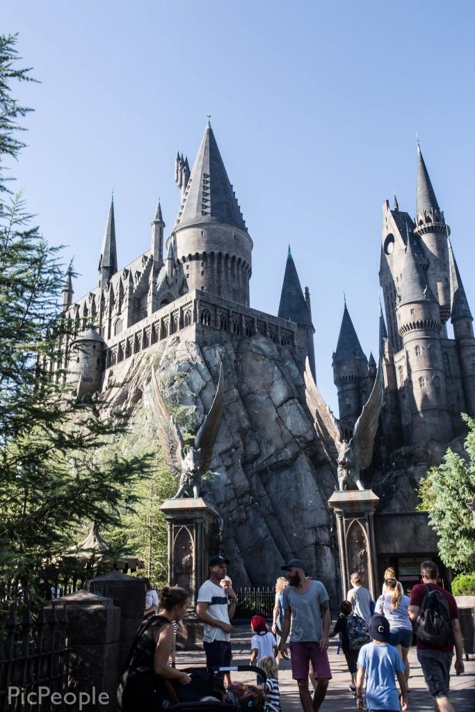Detta är Hogwarts där alla går i skola.