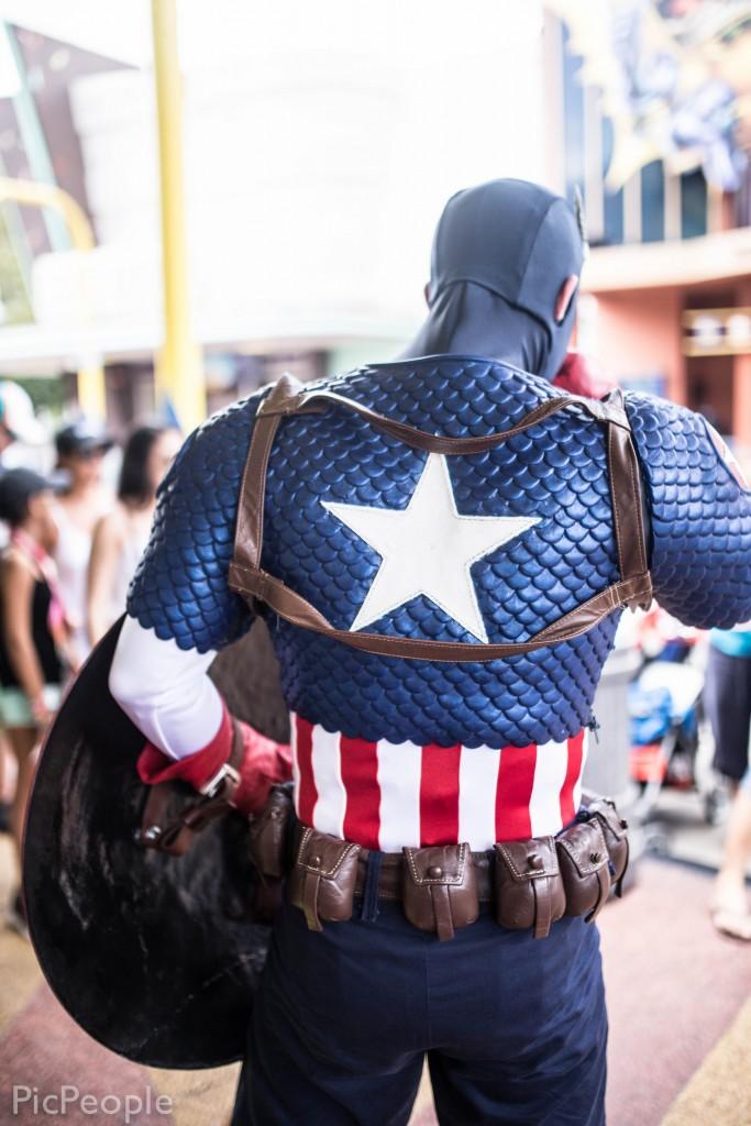 Inte utan att en blev en smula starstrucked när en fick se Captain America himself livs levande.