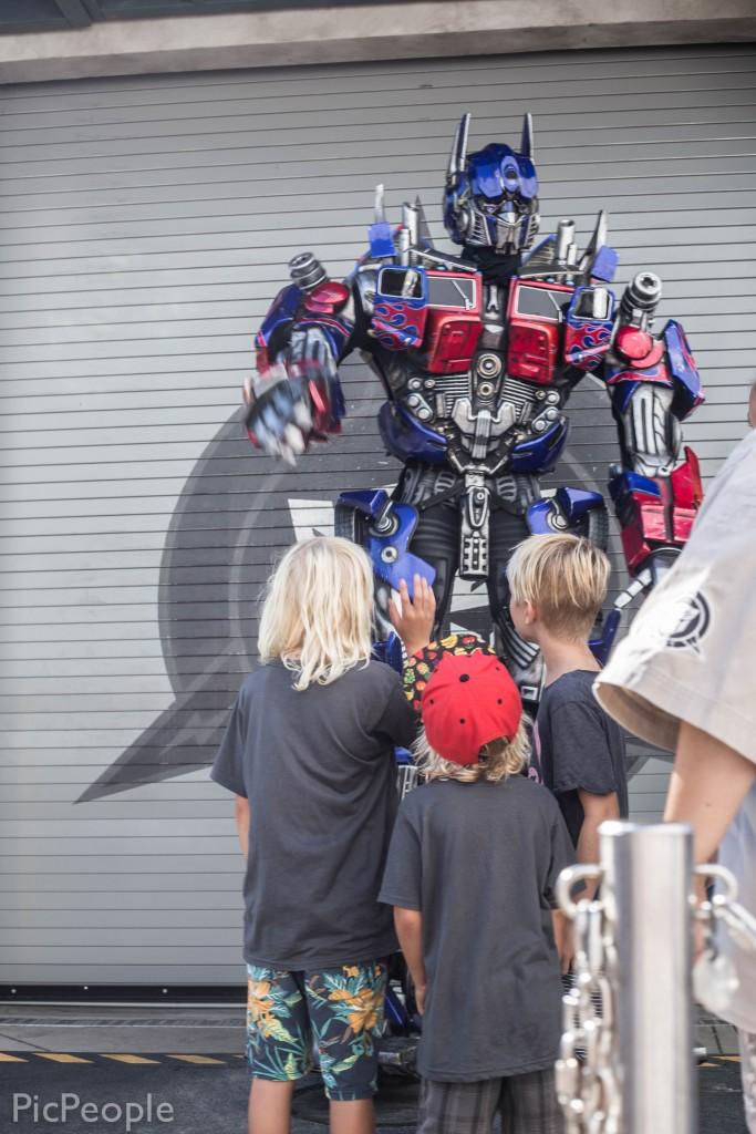 Mer kändisspotting. Här ser vi Optimus Prime.