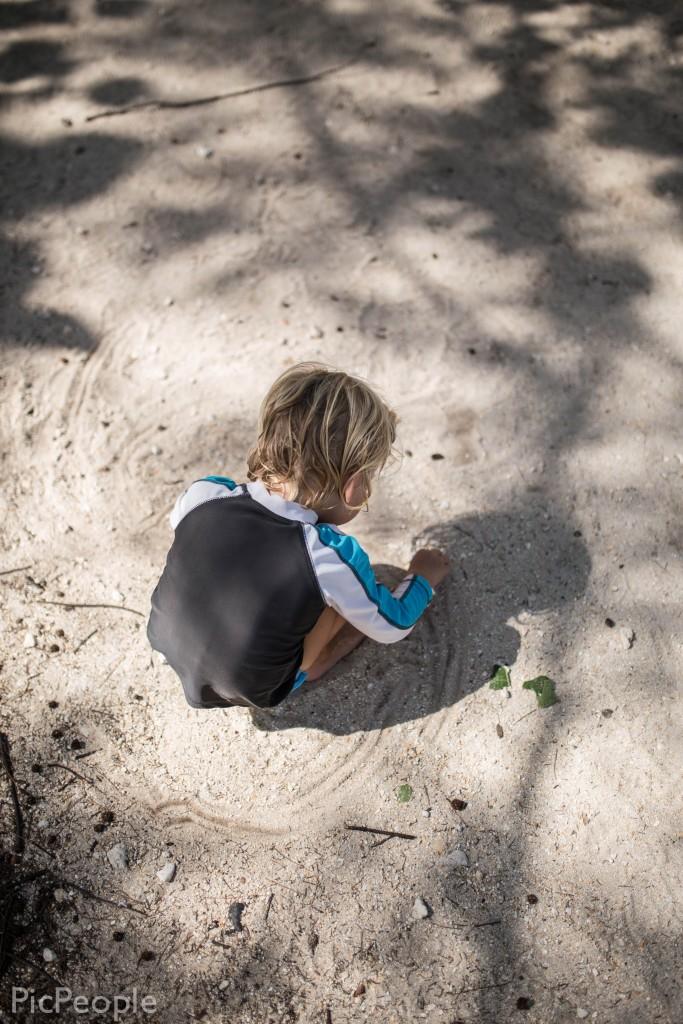 Sixten körde bil i sanden.