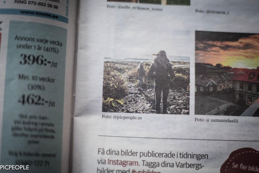 Samma dag var en av mina instagrambilder publicerade i samma tidning. Coolt.